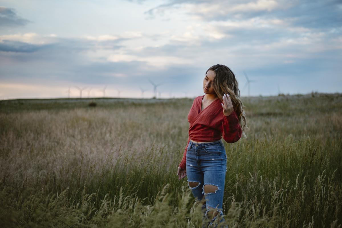 Wind turbines senior pictures