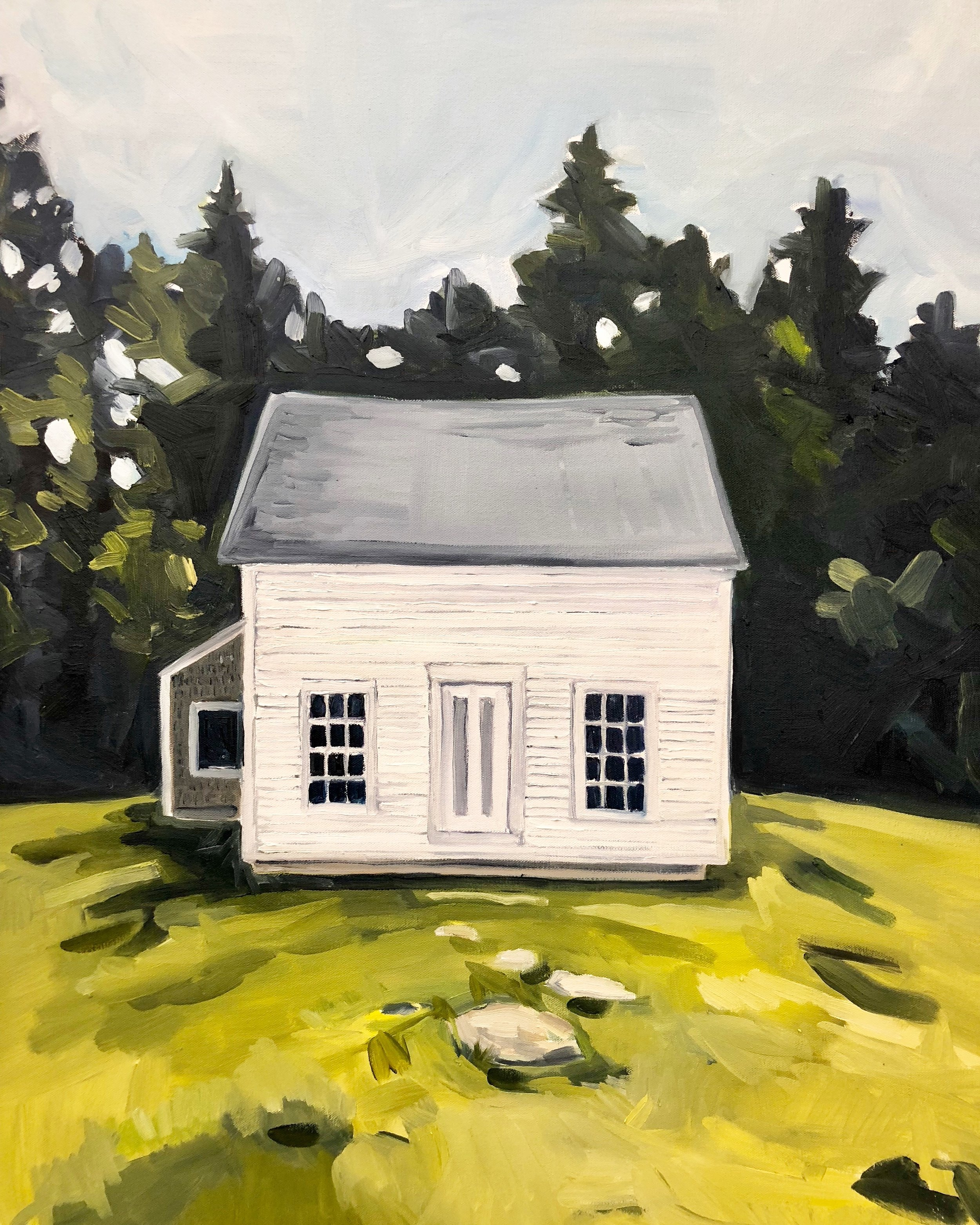 "Empty House on Hathorne Point, Oil on Canvas, 30""x40"""