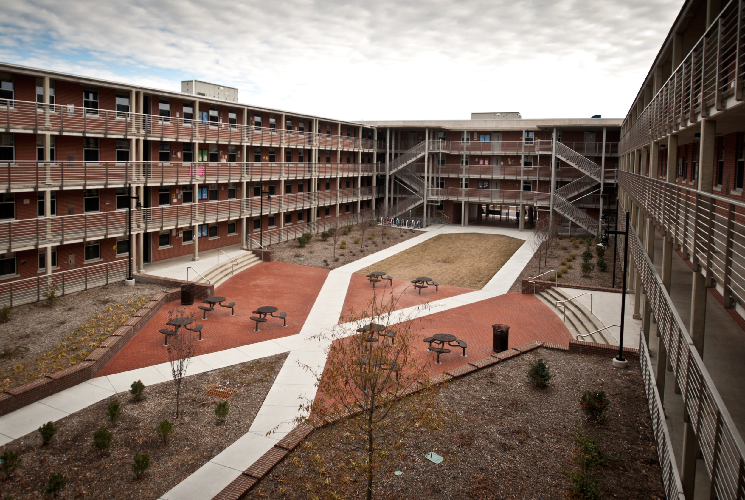 E U East Carolina University Scott Dormitory Davis Kane