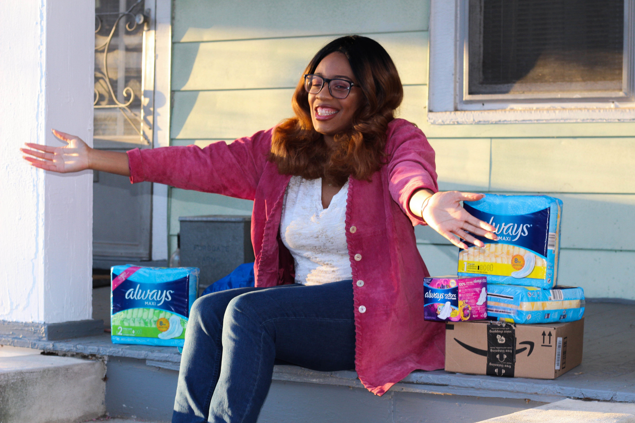 24 Days of Giving in the Community - 24 Days of Giving has provided over hundreds of feminine care products to agencies that help our communities.These agencies include HomeFront and Catholic Charities both of Mercer County, NJ.