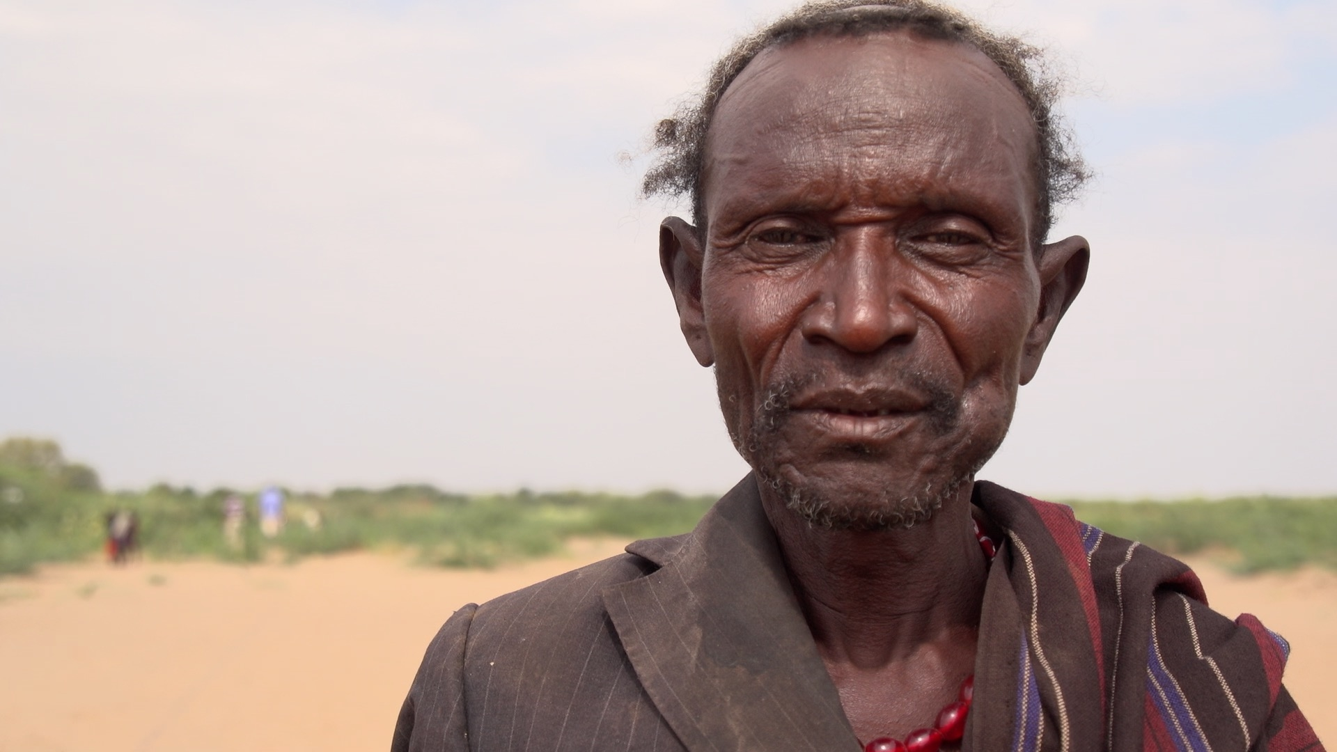 A local Turkana tribesman speaks with us about our project.