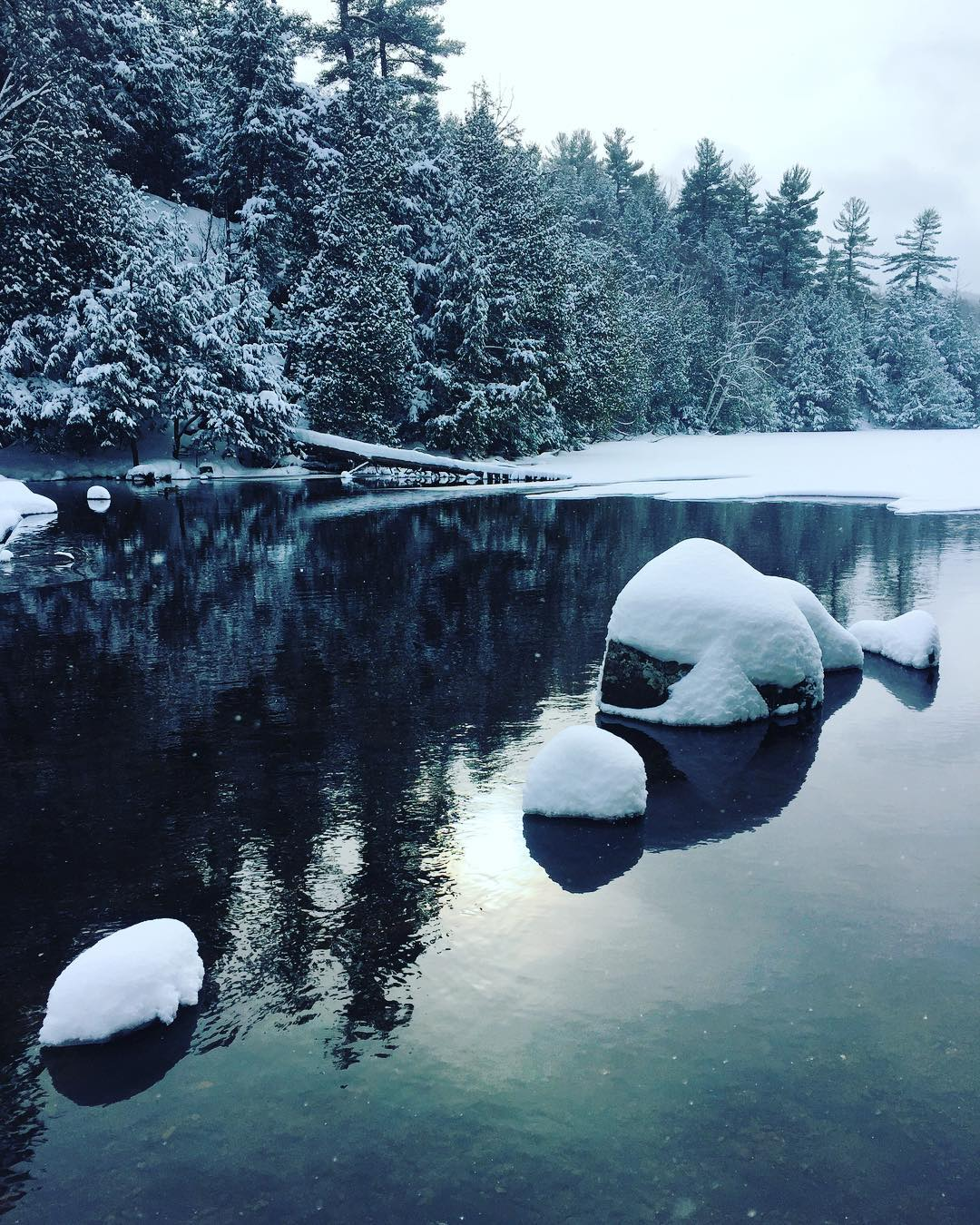 Meech Lake in winter Time