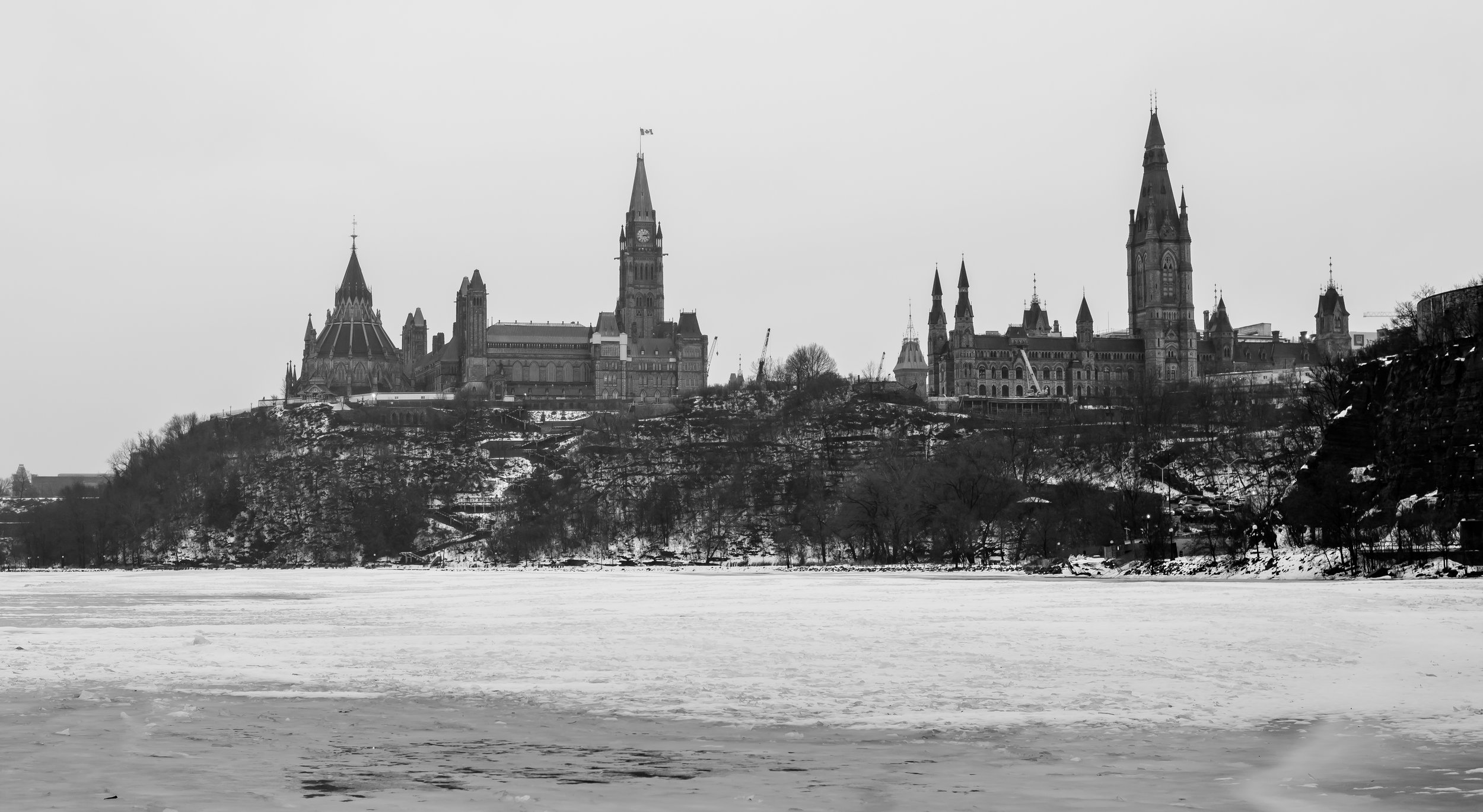 Classic view of Ottawa's Parliament