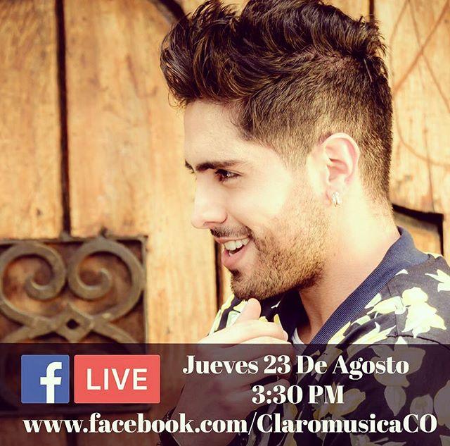 """Mañana estaré con los parceros de @claromusica @claromusicaco haciendo un Facebook Live, hablando acerca de mi nueva canción """"5 Letras"""", de lo que se viene con mi música, y por supuesto, respondiendo todas sus preguntas!!! Ahí nos vemos! ✌🏻#FBLiveClaromúsica #claromusica #ShowroomClaromusica #5letras"""