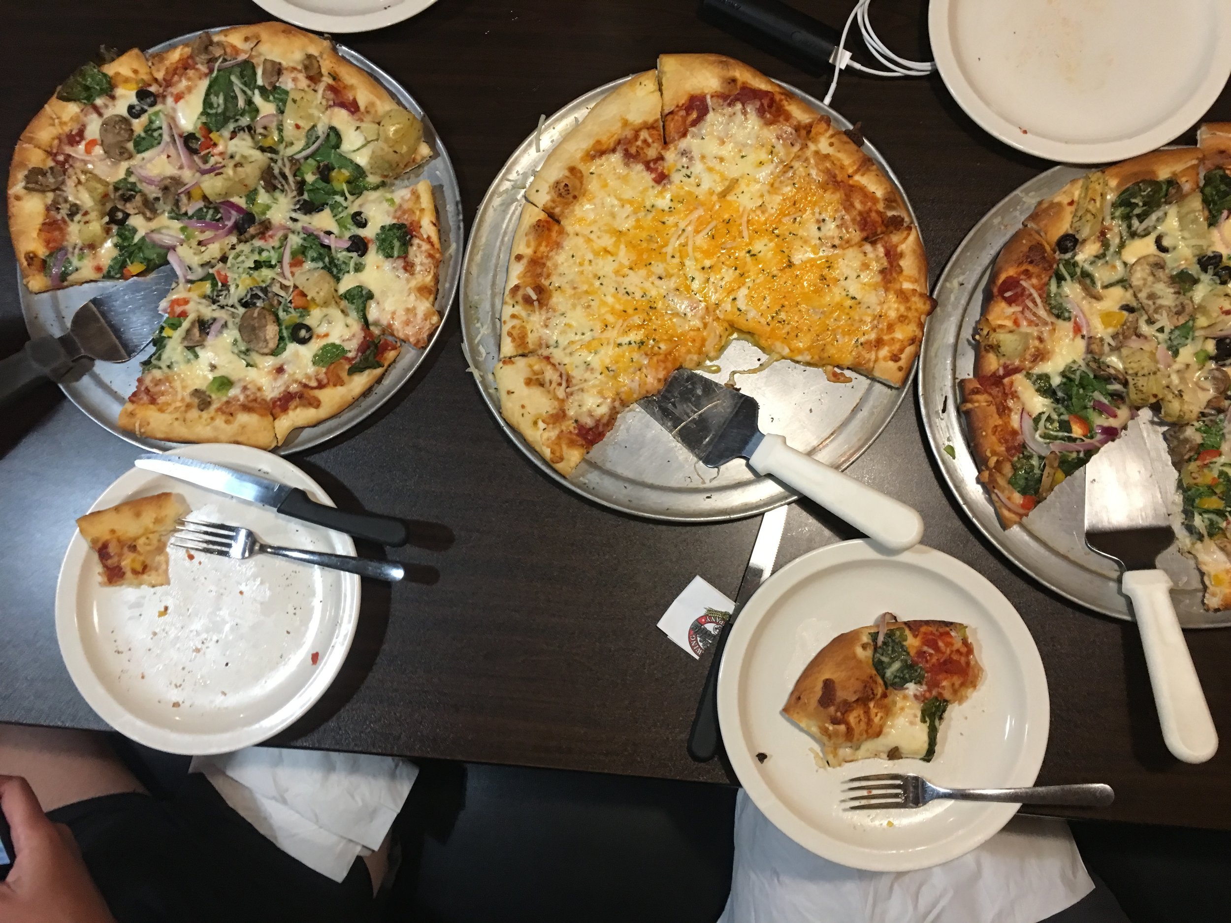 You can never have too much pizza post run.
