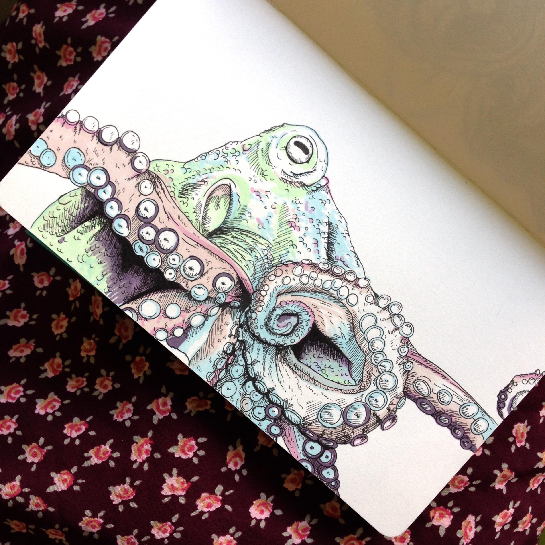 SOLD - Day Twelve - Octopus