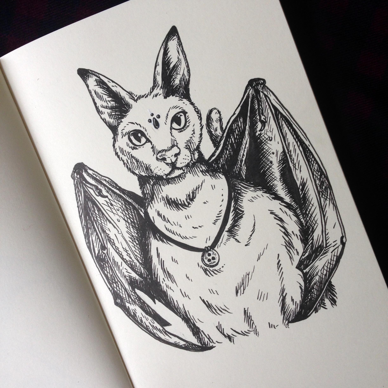 Day Seventeen - Bat-Cat Hybrid