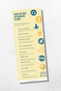9 Ideas to Kick the Mid-Afternoon Slump | dianemunoz.com