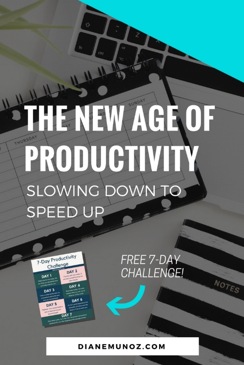 The New Age of Productivity - Slowing Down to Speed Up
