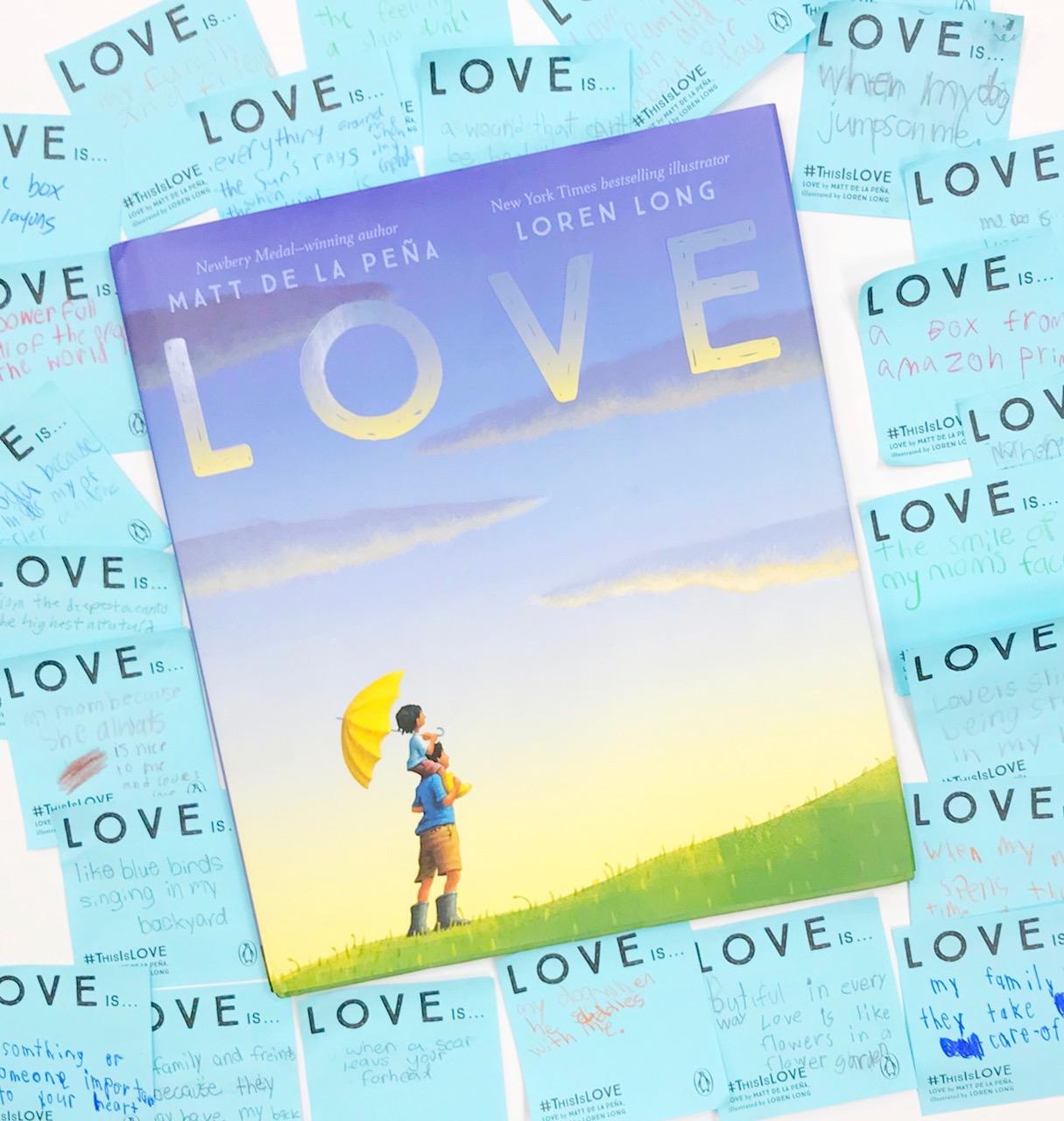 Love by Matt de La Pena, a picture book about love