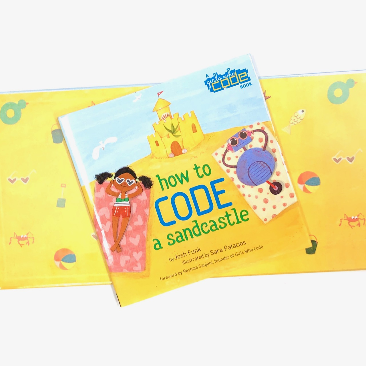 STEM Books for kids, How to Code a Sandcastle