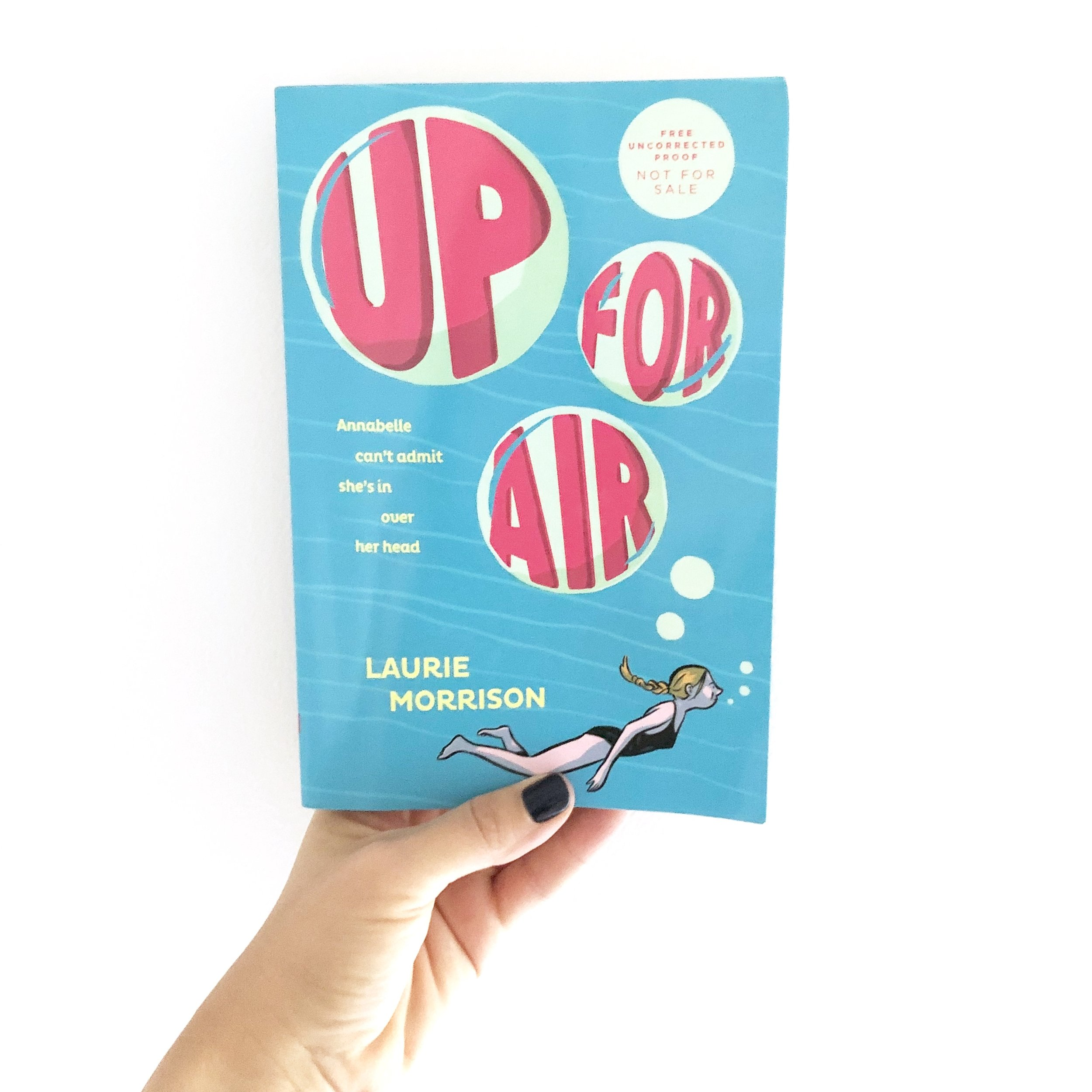Books for Middle School Girls, Up for Air by Laurie Morrison