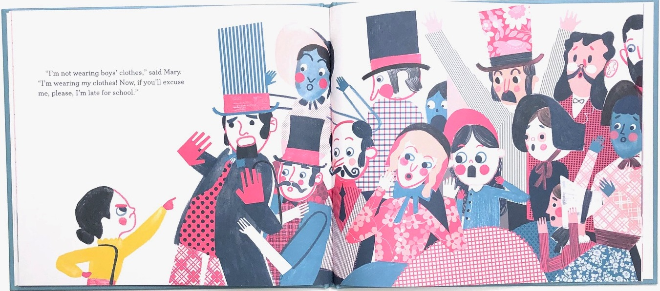 Mary Wears What she Wants by Keith Negley, books about strong girls