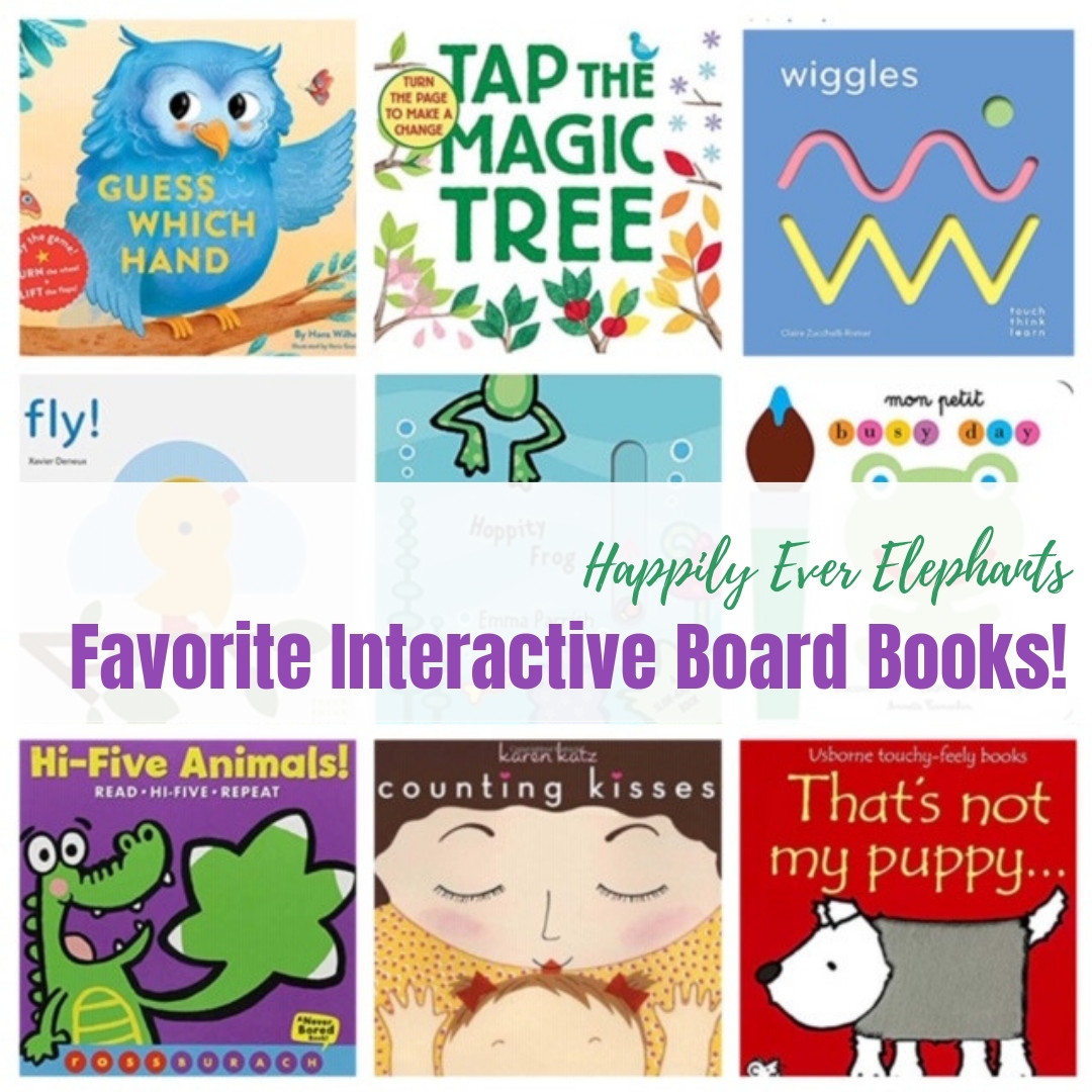 Interactive Books for Babies - Make storytime magical with 20 of the most engaging interactive board books you'll find! With pull tabs, lift the flaps, hidden elements, textured pages and grooved paths, you will captivate your kiddos, create building blocks for reading and writing development, work their fine motor skills, and boost sensory development. Even better? These books will help them fall in love with reading.
