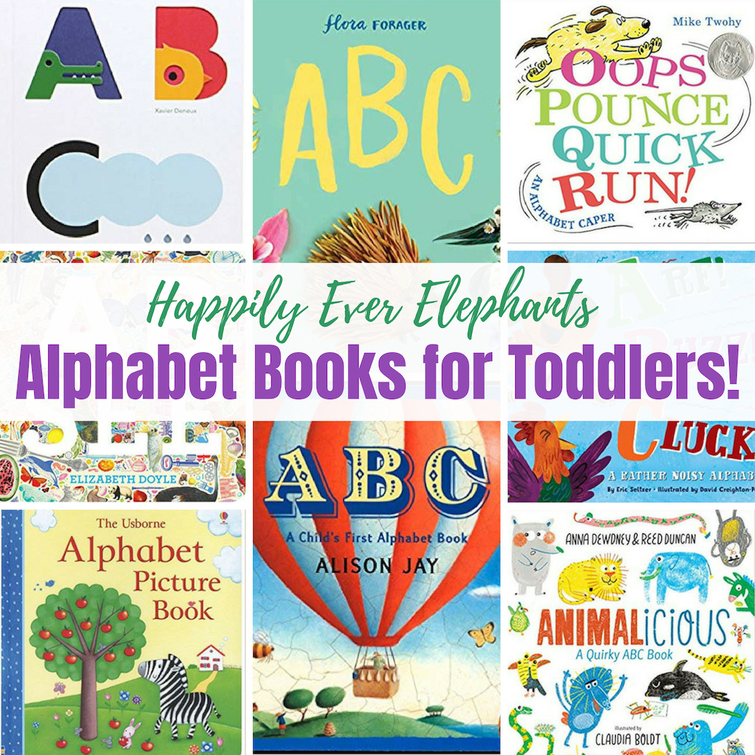 Alphabet Books for Toddlers - ABCs like 123! If you want to start exposing your little one to the alphabet, you are in luck because have compiled a mega-list of alphabet books for toddlers. More than twenty books are organized into categories, including interactive alphabet books, engaging alphabet read-alouds, books that feature both uppercase and lower case letters, alphabet books starring animals, and those ABC books we think are absolutely beautiful.
