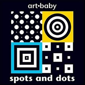 black and white books for newborns, art baby spots and dots