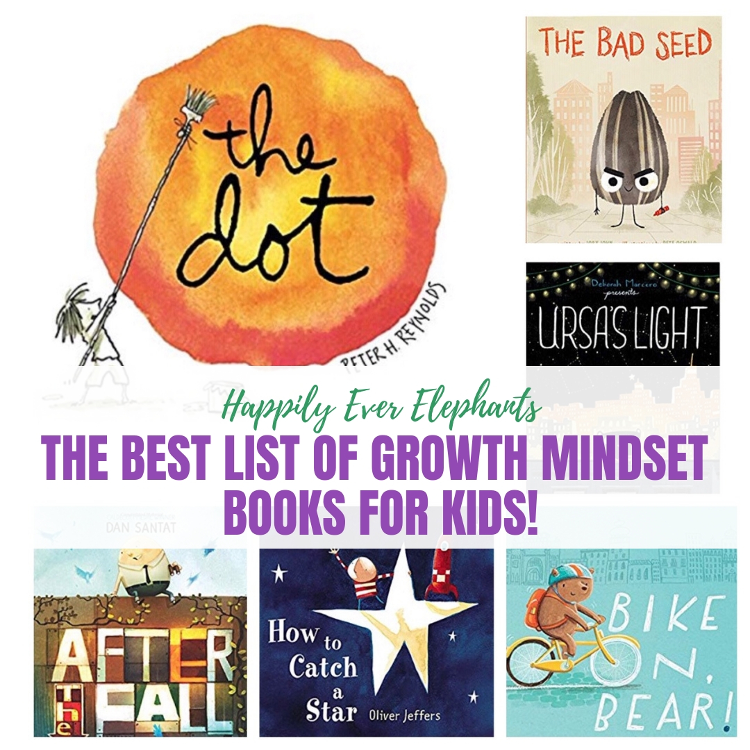 """Growth Mindset Books for Kids - Some kids are so scared to fail that it becomes paralyzing and destroys confidence. That's where growth mindset to come in. If we can change our kids' thinking from """"I can't do it"""" to """"I can't do it YET,"""" we'll come a long way towards boosting confidence in our children. Check out this fabulous list of picture books!"""