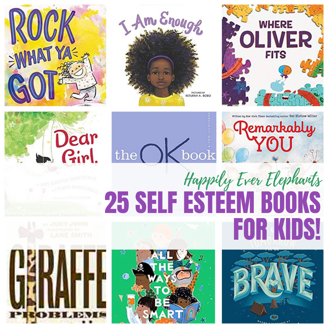 Self Esteem Books for Kids - Are you looking for phenomenal self esteem books for kids to add to your collection at home or at school? Then this list of self confidence books, stories about self love and all the reasons to rock what we've got is the list for you!