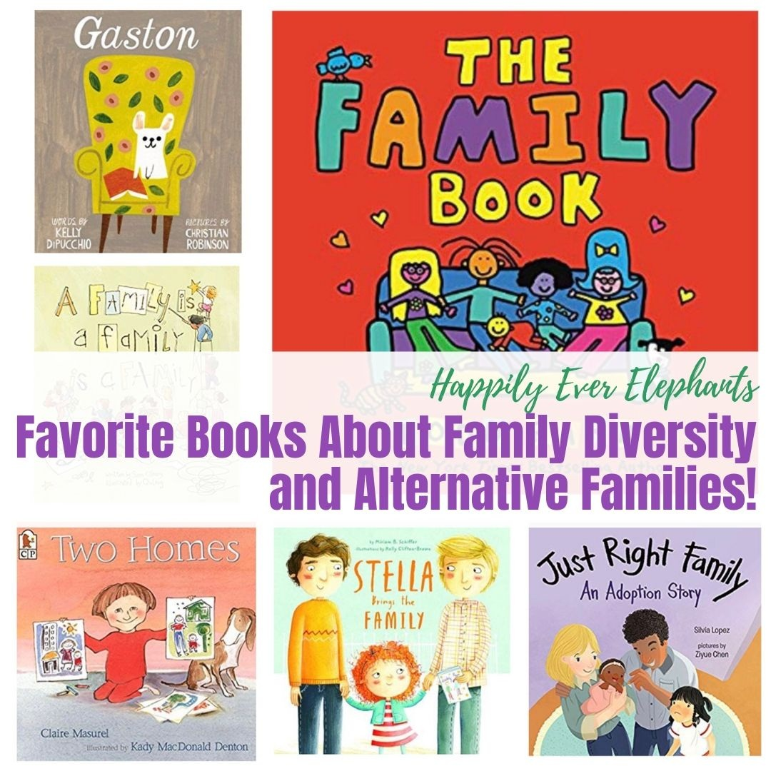 Books About Family Diversity - No matter what kind of family diversity is highlighted in a particular story, one single thread runs through them all. Love. So much love. Here are some of our favorites.