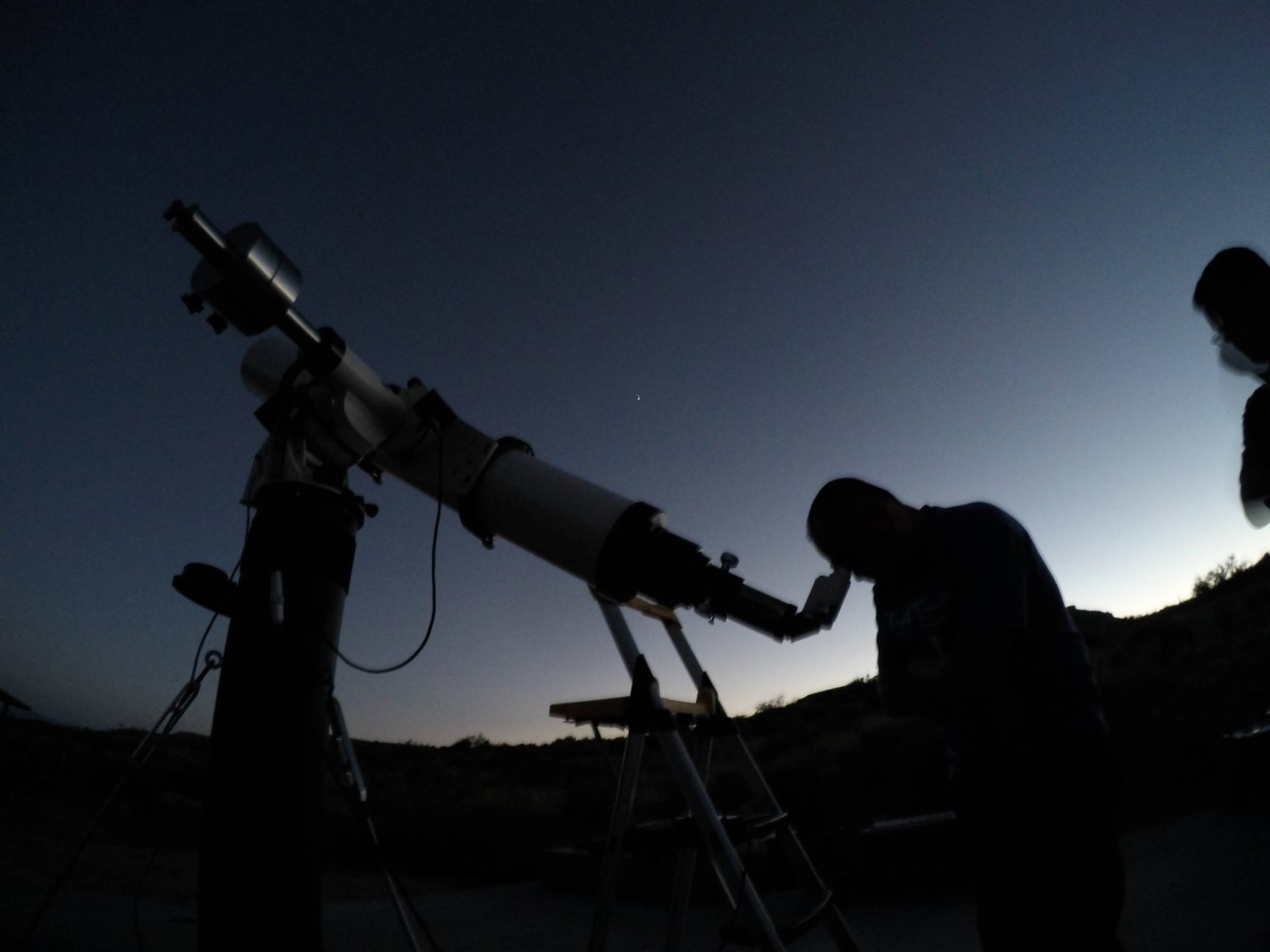Telescopes set up by the Old Town Astronomers of Pasadena provide a close look at far away planets and galaxies at one of our Star Parties.