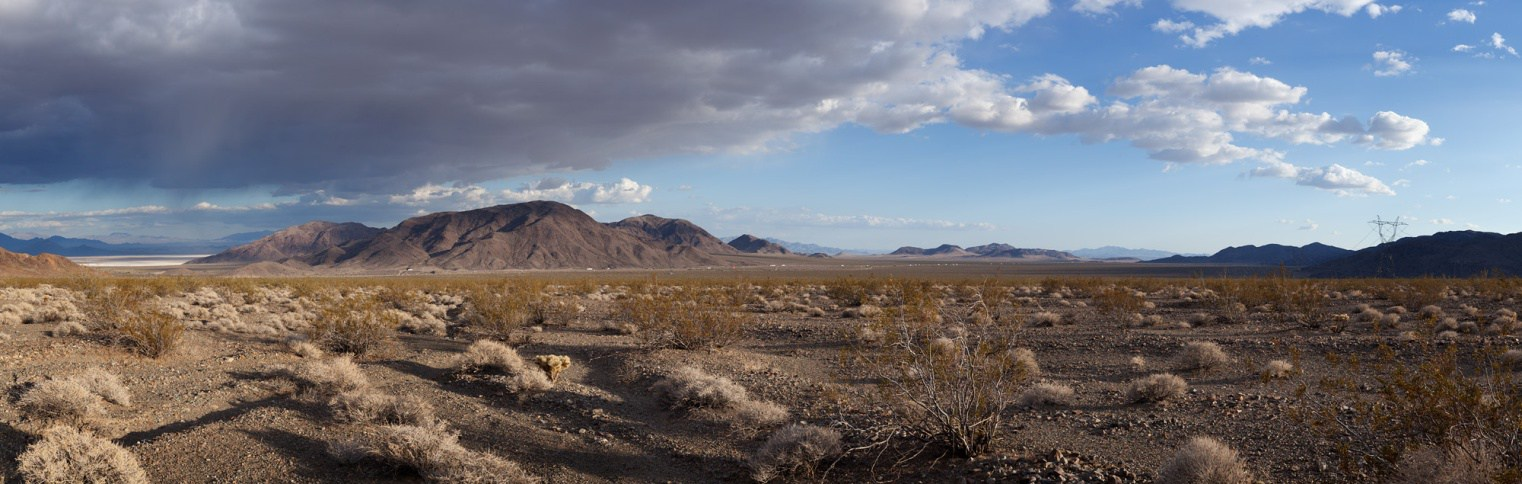 The proposed site of the Soda Mountain Solar project.  Photo by Michael E. Gordon.