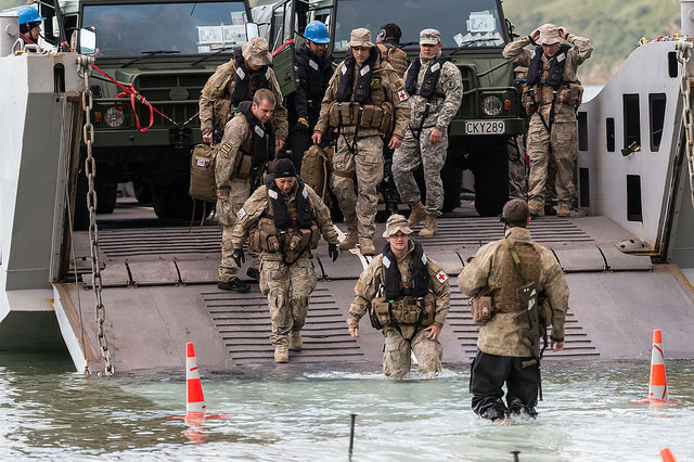 New Zealand Defence Force amphibious operation (Image: Defence Technology Agency)