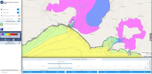 An operational high resolution hydrodynamic forecast model for Port