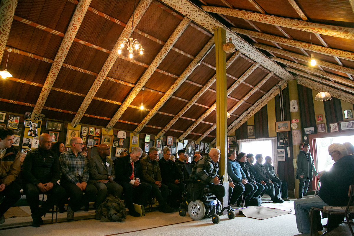 Pōhiri to launch the Moana Project - Omarumutu Marae, Ōpōtiki - 30 July. Photo by Simone Magner.
