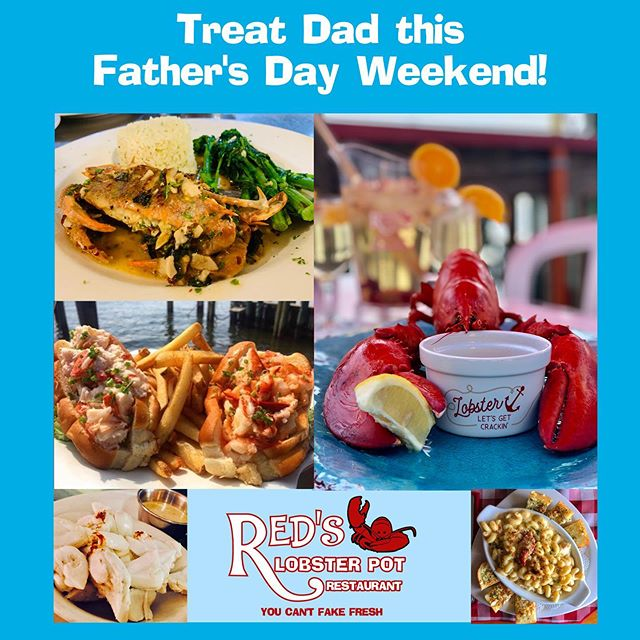 Making plans for this Father's Day weekend? Treat Dad to Red's!  #PointPleasantBeach #PointPleasant #FathersDay #SeafoodLovers #JerseyShore #NewJersey #NJrestaurants #OceanCounty #NJfoodie