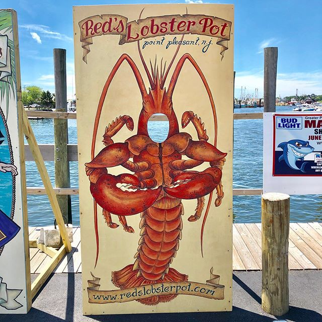 Our Lobster is Waiting for Your Face to Celebrate National Lobster Day! 🦞  Come take a photo in our Lobster cutout and share using #NationalLobsterDay and #RedsLobsterPot!  Tag us to be featured on our Facebook or Instagram!  #Lobster #PointPleasant #NewJersey #PointPleasantBeach #JerseyShore #FamilyFriendly #NJfamily #PhotooftheDay #NationalLobsterDay #NationalLobsterDay2019 #nationalday #summer #lobsters #seafood #instacool #beach #june #june2019 #funphotos #photography #njphotography #photographer #newjerseyphotographer