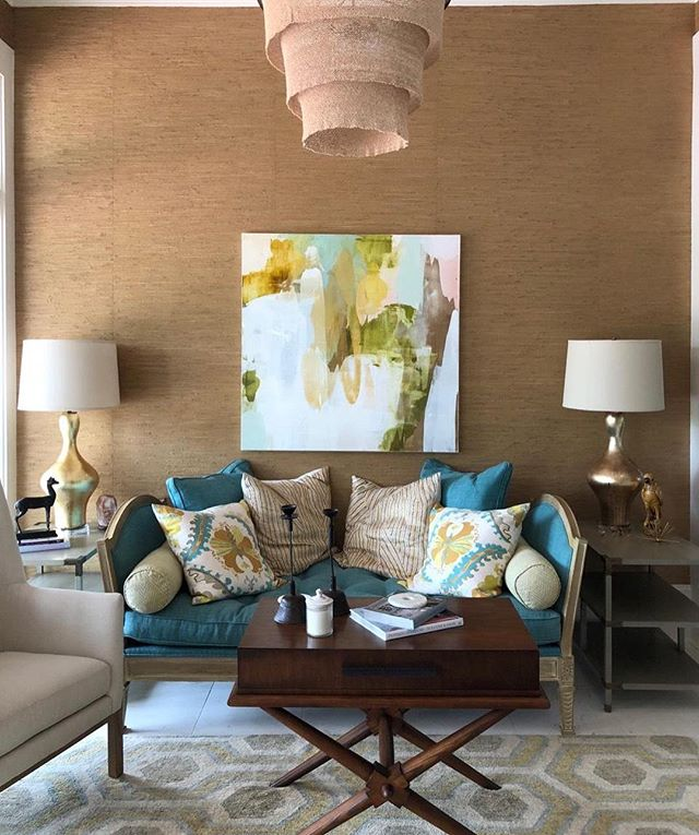 Throwback picture.  @dixonsmith_interiors #interiordesign #interiors #art #color #decor #artist #artwork #lynnsandersart photo cred: @melissahunter1
