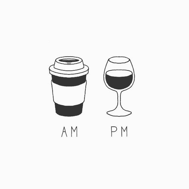 Friday; the day of the week that requires the perfect balance of coffee to wine 😉 #wineoclock