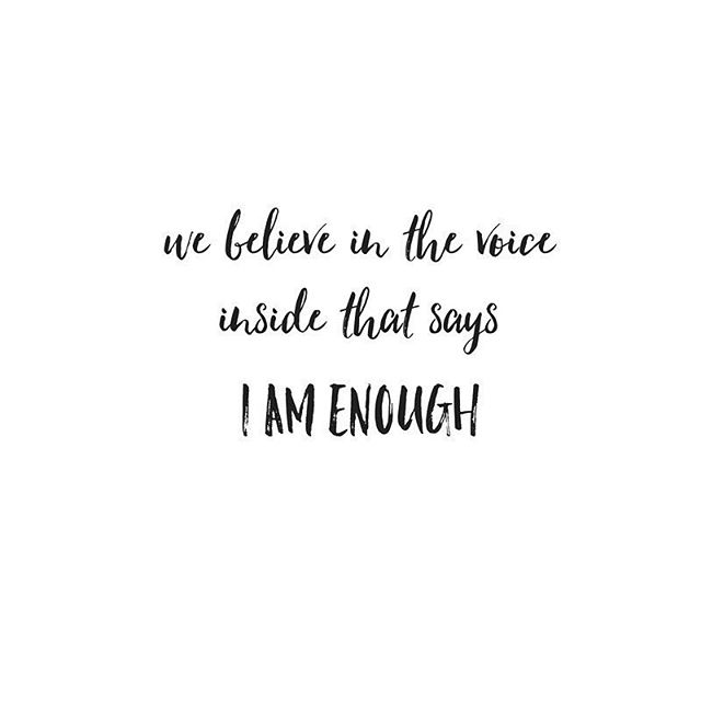 Listen closely, that voice might be a whisper, but it's there because you are definitely ENOUGH x #mamacoskincare