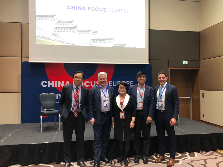 Left to right: John Xu – CEO and co-founder, Jemincare Therapeutics; Carlos de Sousa – CEO, Immunicum AB; Echo Hindle-Yang – CEO, MSQ Ventures; Qun Dang – VP Global head of business development, Qilu Pharmaceutical; Mike Robbat – VP of Business Development, Regenerative Medicine & General Counsel, ORIG3N
