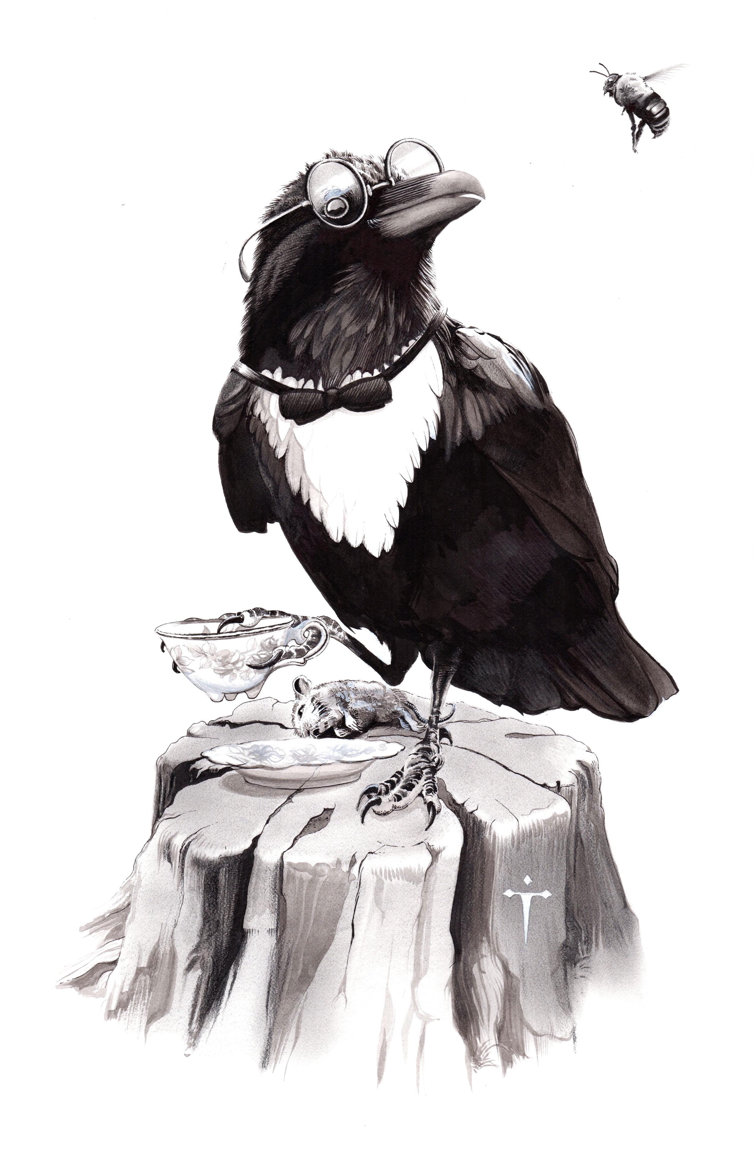 A Raven's Tea Party