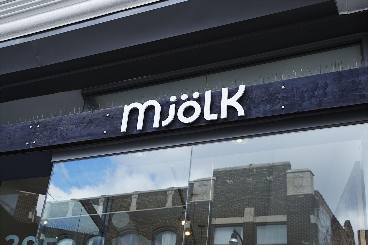 Mjölk Sign
