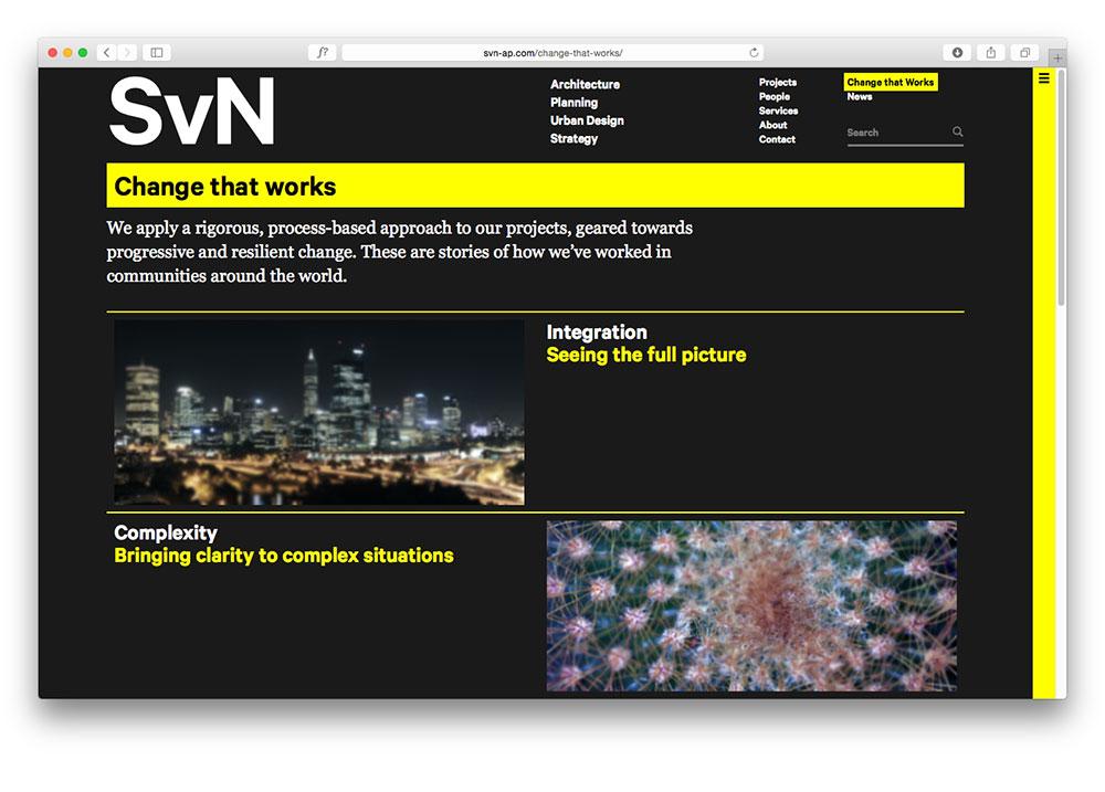 SvN Website Design