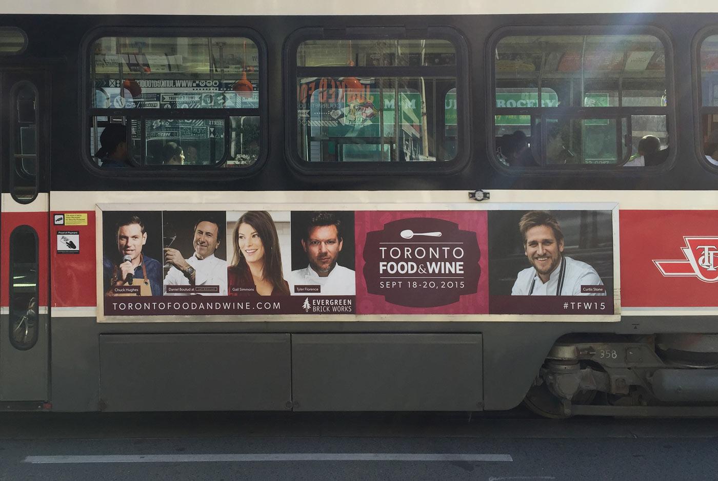 Toronto Food & Wine Show Transit Advertising