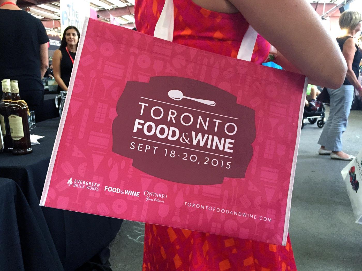 Toronto Food & Wine Show Bag Design
