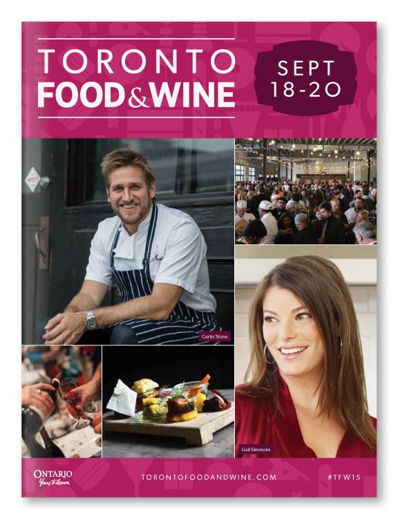 Toronto Food & Wine Show Showguide Design