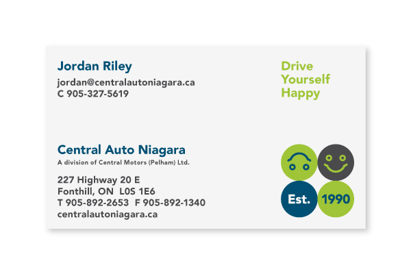 Central Auto Niagara / Business Card Design