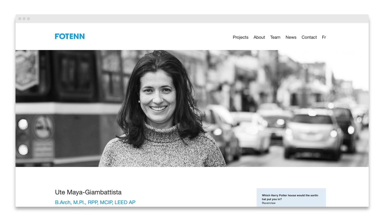 Fotenn / website design