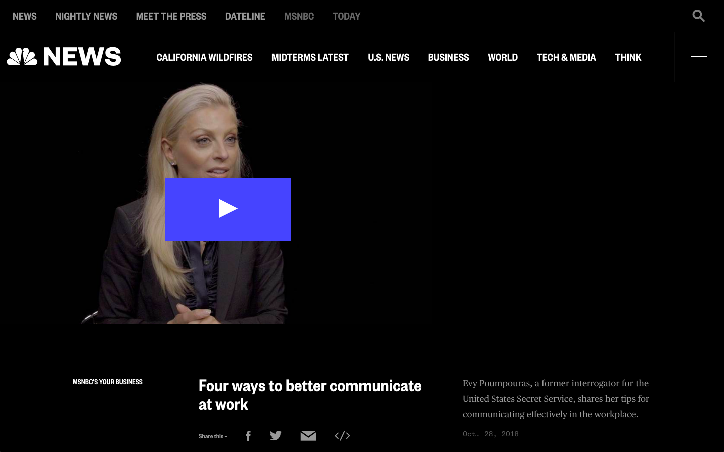 MSNBC'S YOUR BUSINESS - Four ways to better communicate at work