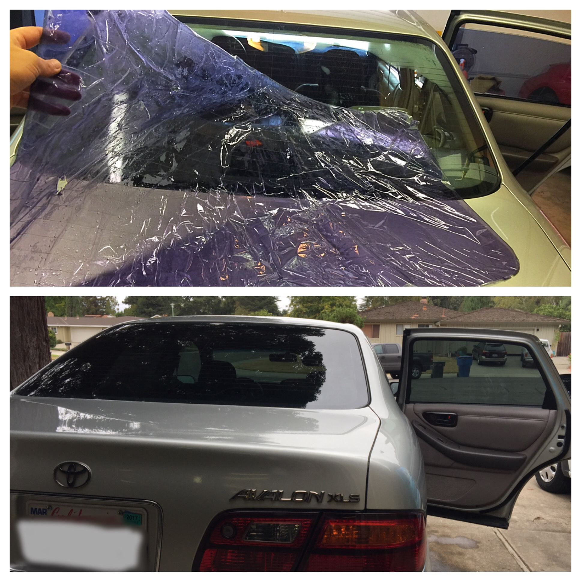 Replacing bad tint