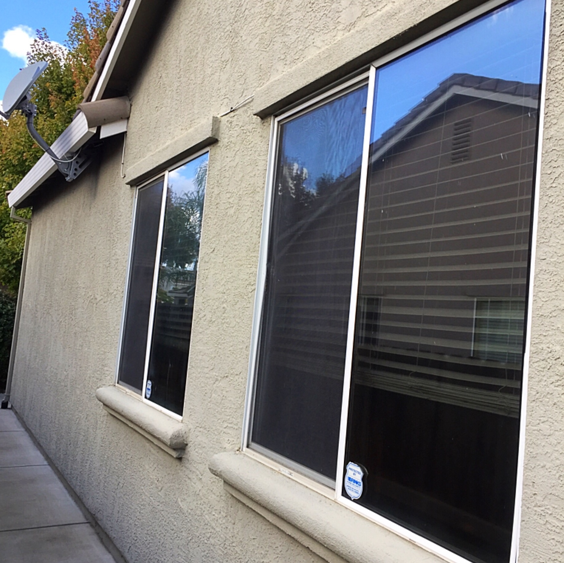 Bedroom Windows 25% tint