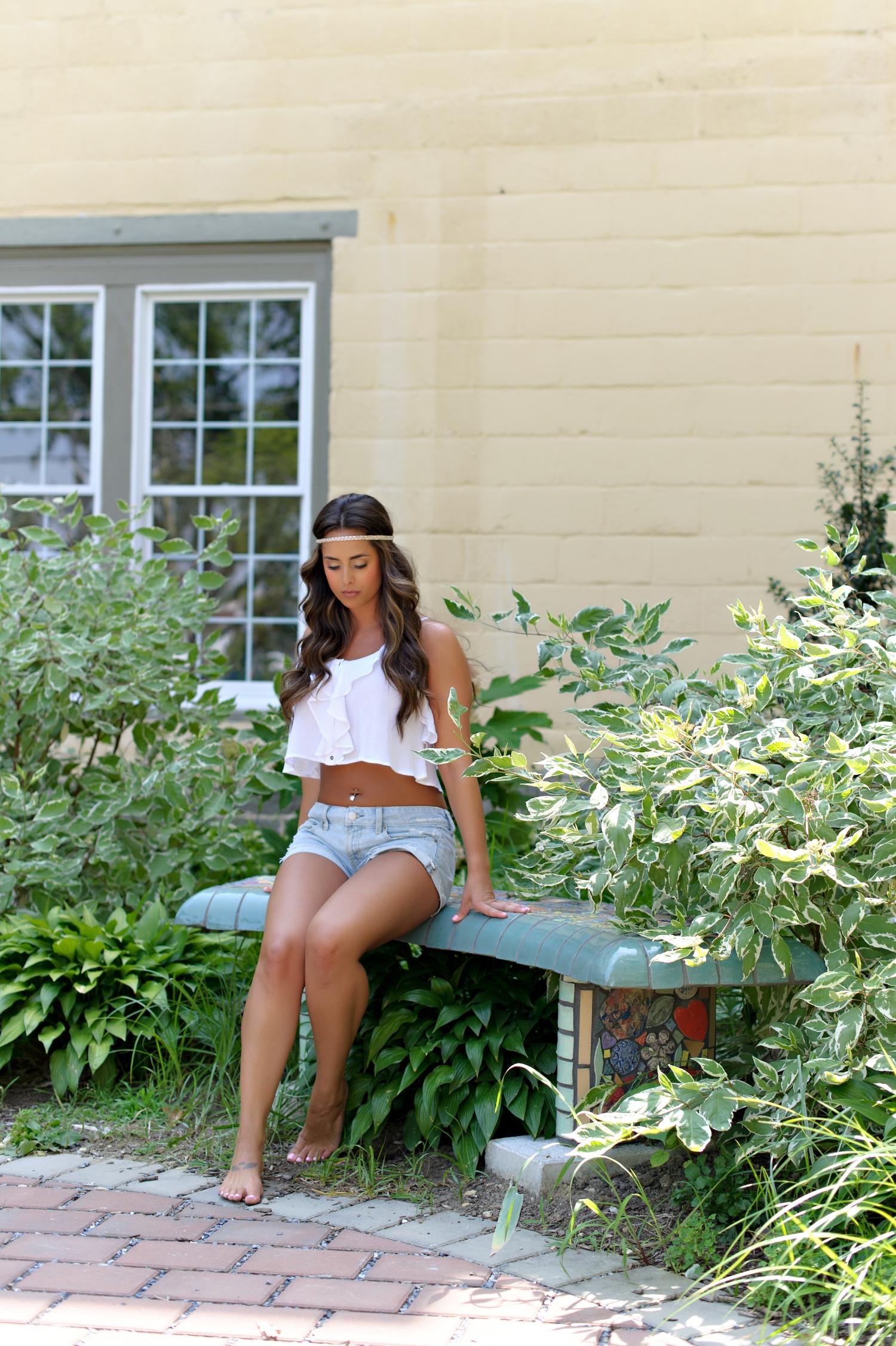 garden boudoir shoot
