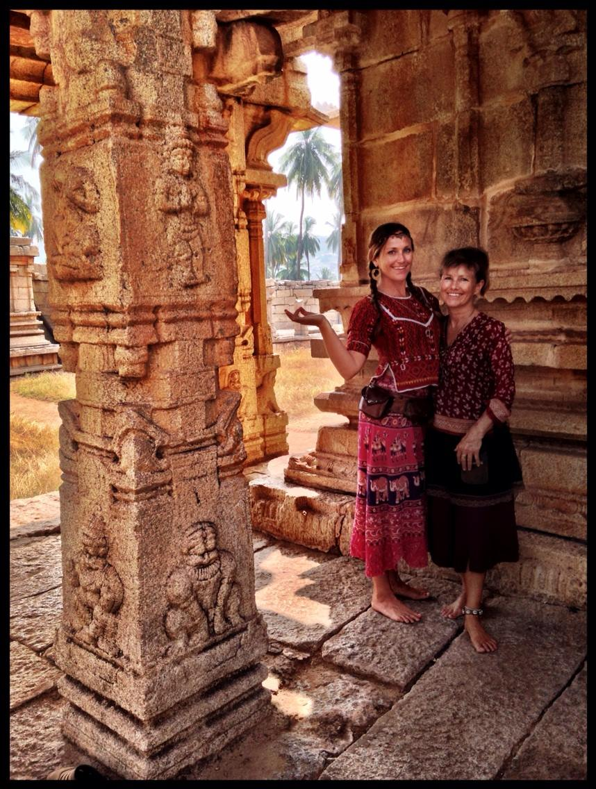 - With my daughter, Sarah-Jane Perman, in Hampi, India, during her 'activation retreat' in 2016.