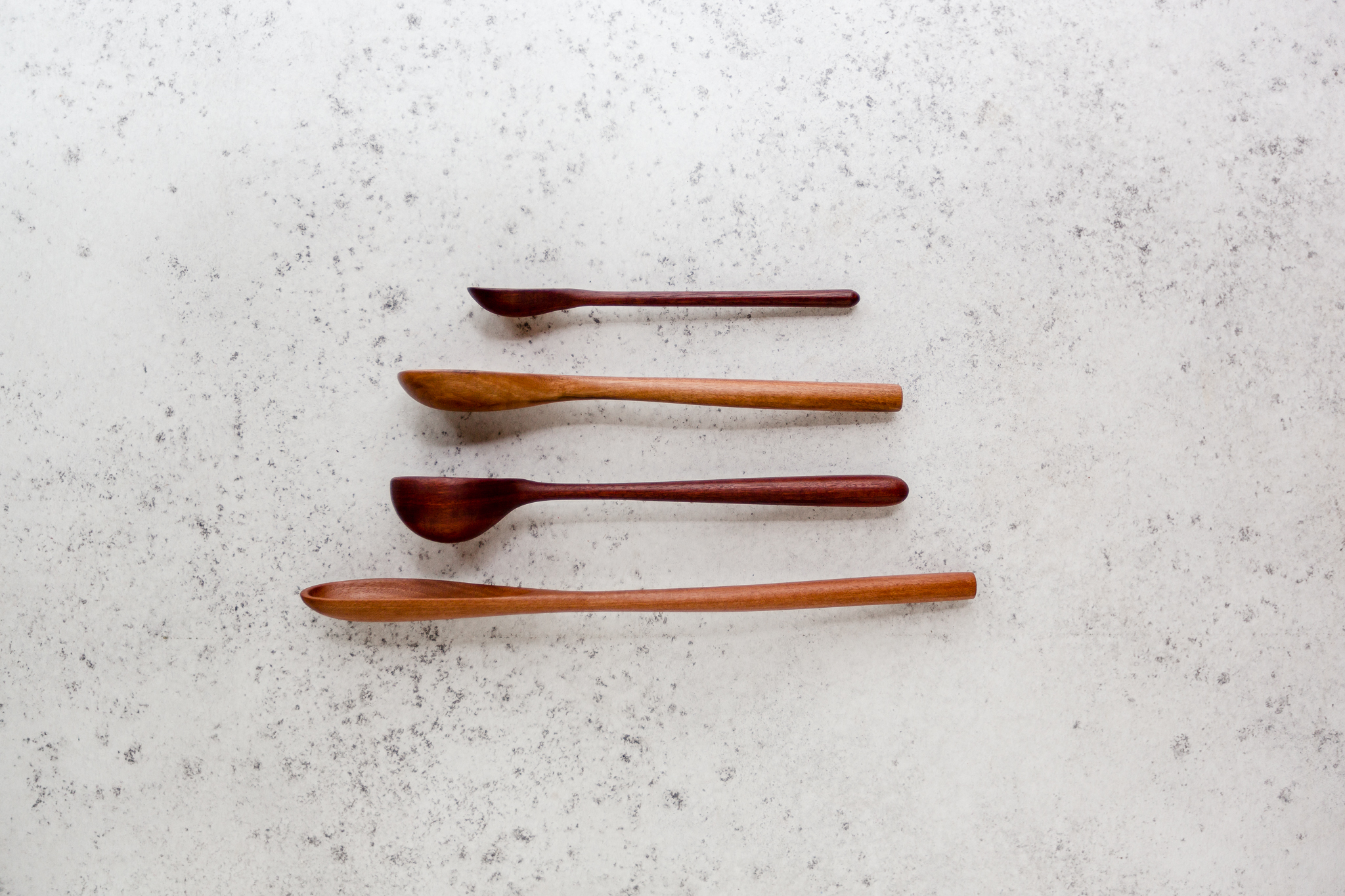 SPOONS + SPATULAS - Our one-off wooden spoons and spatulas are created with functionality in mind. Available in a variety of shapes, sizes and timber types, these versatile pieces are great for stirring, mixing, tasting and serving your favourite dishes and will become your favoured utensil and serving spoon in your home.
