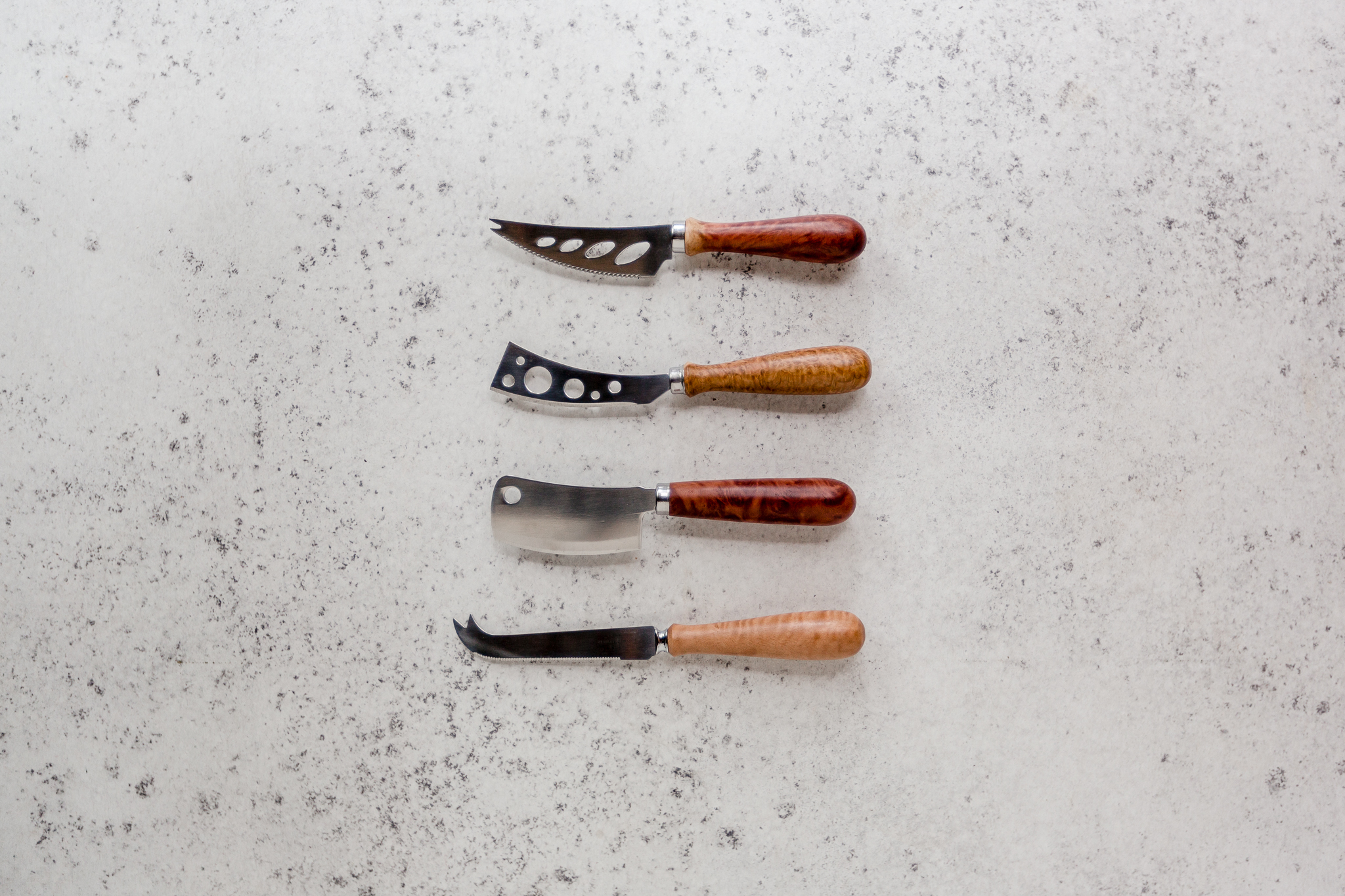 KNIVES - Our knives are made from high quality stainless steel and feature a handcrafted timber handle. The modern design of our knives complements all table settings and makes a stunning addition to your cutlery set. We recommend pairing our knives with one of our serving boards to make the perfect entertaining set.