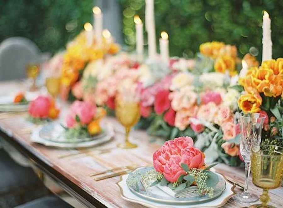 Irene Cole Photography,Sonia Sharma Event,RMINE,Revelry Event Designers,Casa de Perrin, Hancock Park Estate,Propel Workshop By Caroline Tran Colored Wedding Dress, Vibrant Wedding